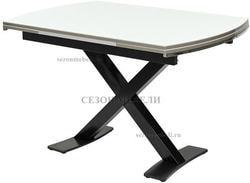 Стол KRIS BL 120 см белый / черный
