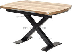 Стол KRIS TROPIC 120 см орех / черный
