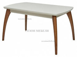 Стол MERCAN белый/ орех 120 см
