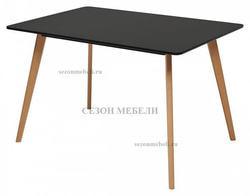 Стол Abele 120 черный/массив бука
