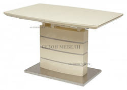Стол DOVER 120 Крем, матовое стекло