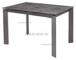 Стол CORNER 120 Glazed Glass Volcano Grey+Grey1