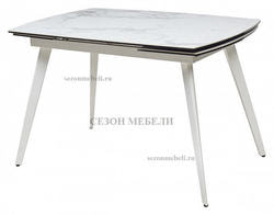 Стол ELIOT 120 Chinese Marble Ceramic White