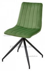 Стул MILLER весенняя зелень/ серый каркас, велюр G062-16