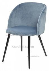 Стул YOKI пудровый синий, велюр G108-56