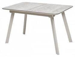 Стол ARUBA 140 BEIGE/ CAPPUCINO глазурованное стекло
