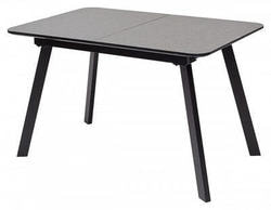 Стол ARUBA 120 DARK GREY/ BLACK глазурованное стекло