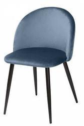 Стул MELODY пудровый синий, велюр G108-56