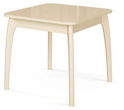 Стол №45 ДН4 слоновая кость/стекло бежевое