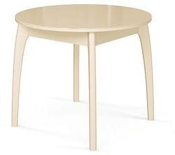 Стол №46 ДН4 слоновая кость/стекло бежевое