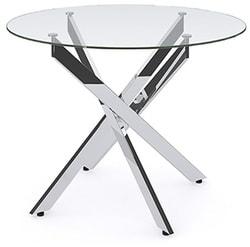 Стол Dikline R90 стекло/ хром