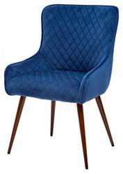 Стул TITAN BLUE / BLACK LEGS, синий велюр