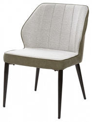Стул-кресло RIVERTON светло-серый меланж FC-01/ экокожа хаки RU-04