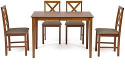 Обеденная группа Хадсон (стол + 4 стула)/ Hudson Dining Set (дуб золотисто-коричневый)