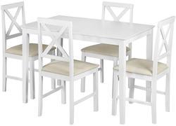 Обеденная группа Хадсон (стол + 4 стула)/ Hudson Dining Set (белый)