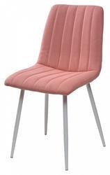 Стул DUBLIN UF860-05B розовый, ткань/ белый каркас