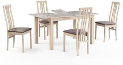 Обеденная группа (стол TME-6931 MBH MILKY WHITE/ SWEDEN + 4 стула СB-2482YBH MILKY WHITE/ CAMEL)
