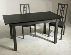 Обеденная группа (стол TME-6932 MBH GREY/ GREY STONE серый камень + 4 стула СB-2482YBH GREY / CHARCOAL)
