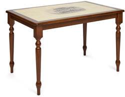 Стол обеденный с плиткой CT 3045P темный дуб (Дерево)